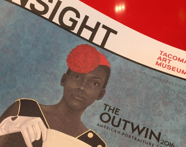 Cover of TAM's Insight Members Publication, Winter/Spring 2017. Featuring detail of Outwin Boochever Portrait Competition 2016 First Prize Winner as seen in The Outwin 2016: American Portraiture Today. Amy Sherald, Miss Everything (Unsupressed Deliverance) (detail), 2013. Oil on canvas, 54 x 43.125 inches. Frances and Burton Reifler. Copyright Amy Sherald.