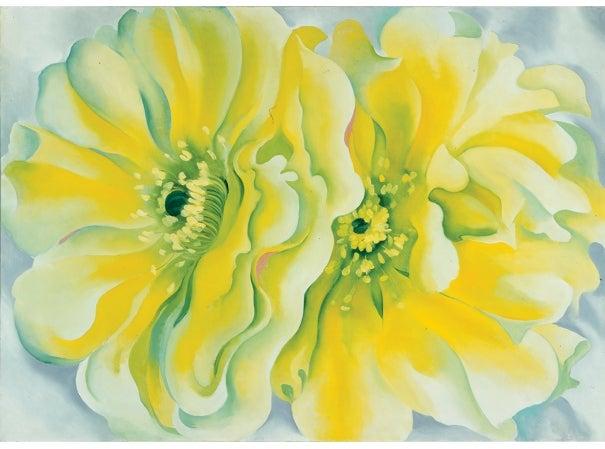 Georgia O'Keeffe (1887–1986), Yellow Cactus, 1929. © Copyright 2014 Georgia O'Keeffe Museum.