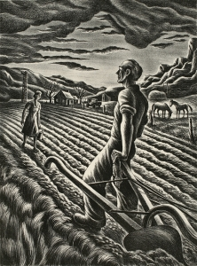 Carlos Andreson (American, 1905-1978) Western Saga, 1943 Lithograph 15 7/8 x 11 1/2 in. (40.3 x 29.2 cm) Tacoma Art Museum, Carolyn Schneider Collection, Gift of Col. and Mrs. A. H. Hooker, 1970.102