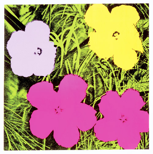 Andy Warhol, Flowers, 1970. Screen print on paper 36 í— 36 inches.  © 2012 The Andy Warhol Foundation for the Visual Arts, Inc. / Artists Rights Society (ARS), New York.