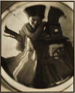 Virna Haffer, Self Portrait, 1929. Gelatin silver print with added pigmentation, 11 1/2 x 9 1/4 inches. Private Collection.