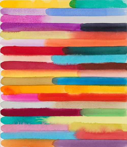 Martin Creed, Work No. 1367, 2012. Watercolor on paper, 12 × 10 inches. Collection of BNY Mellon. Image courtesy the artist and Hauser & Wirth.