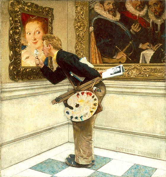 Art Critic, Norman Rockwell, 1955, Oil on canvas, 39  ½