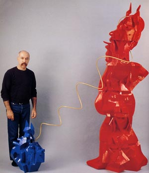 Howard Kottler, Devil Walk, 1987. Ceramic, paint, and steel. Dimentions variable. Gift of the Howard Kottler Testamentary Trust, 1998.56 A-J.