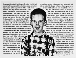 David Wojnarowicz, Untitled [One day this kid...], 1990. Photostat, 30 3/4 x 41 inches, edition of 10. Courtesy of The Estate of David Wojnarowicz and P.P.O.W. Gallery, New York.