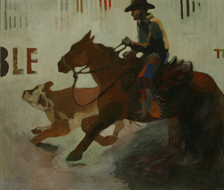 Image credit: William Cumming (1917-2000), Kay Gee Doc, 1973. Tempera on board, 48 × 52½ inches. Tacoma Art Museum, Gift of JP Morgan Chase, 2009.19.1.