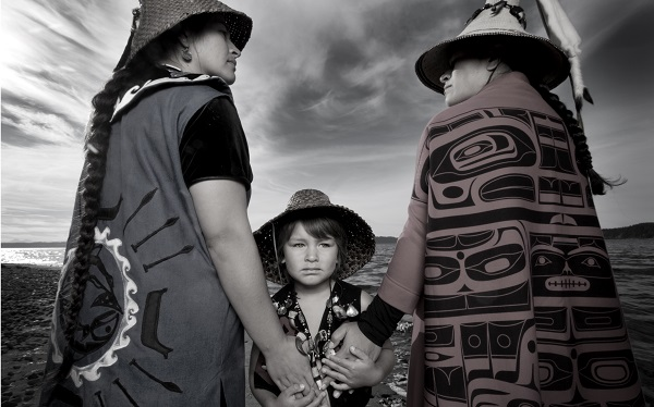 Matika Wilbur, Darkfeather, Bibiana and Eckos Ancheta from Tulalip, WA, 2013. Courtesy of the artist.