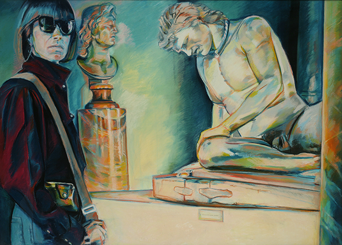 Randy Hayes (born 1944), Capitoline Museum: Dying Gaul, 1988. Pastel on paper, 53 × 72 inches. Tacoma Art Museum, Gift of Lynn Loacker, 2013.10.