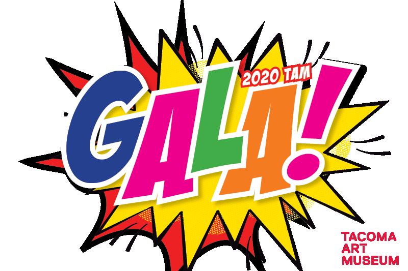 Comic book inspired logo for 2020 TAM Gala