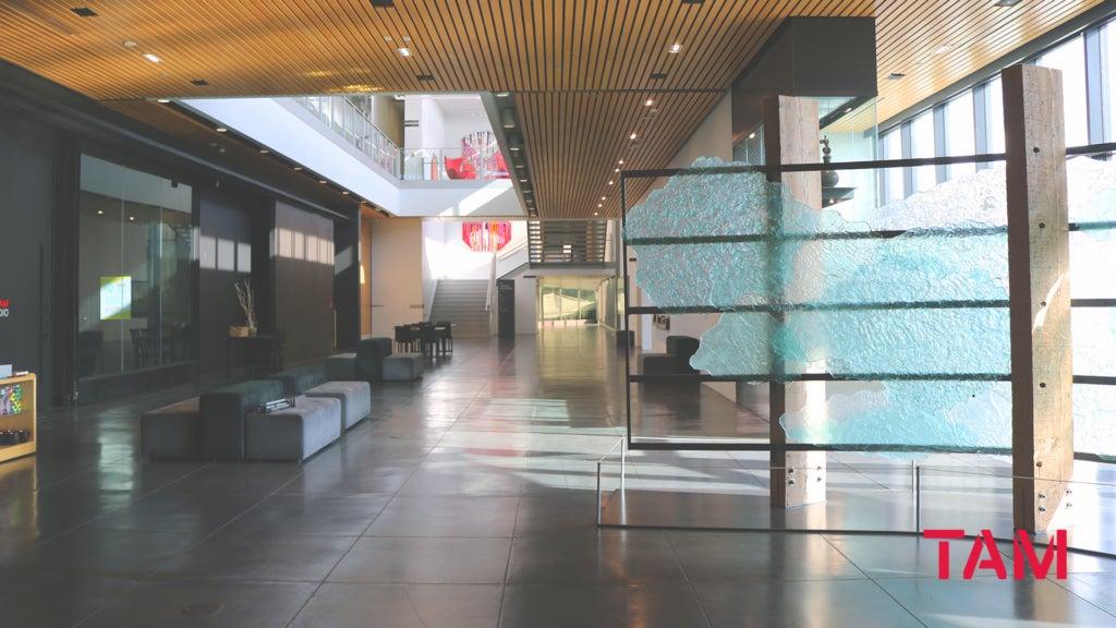 Empty lobby area at Tacoma Art Museum