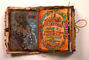 "Photo of Aminah Robinson's work, ""Poindexter Village Ragmud"""
