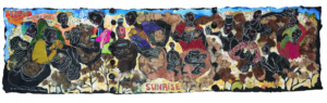 "Photo of Aminah Robinson's work, ""Sunrise"" 1996-2012"
