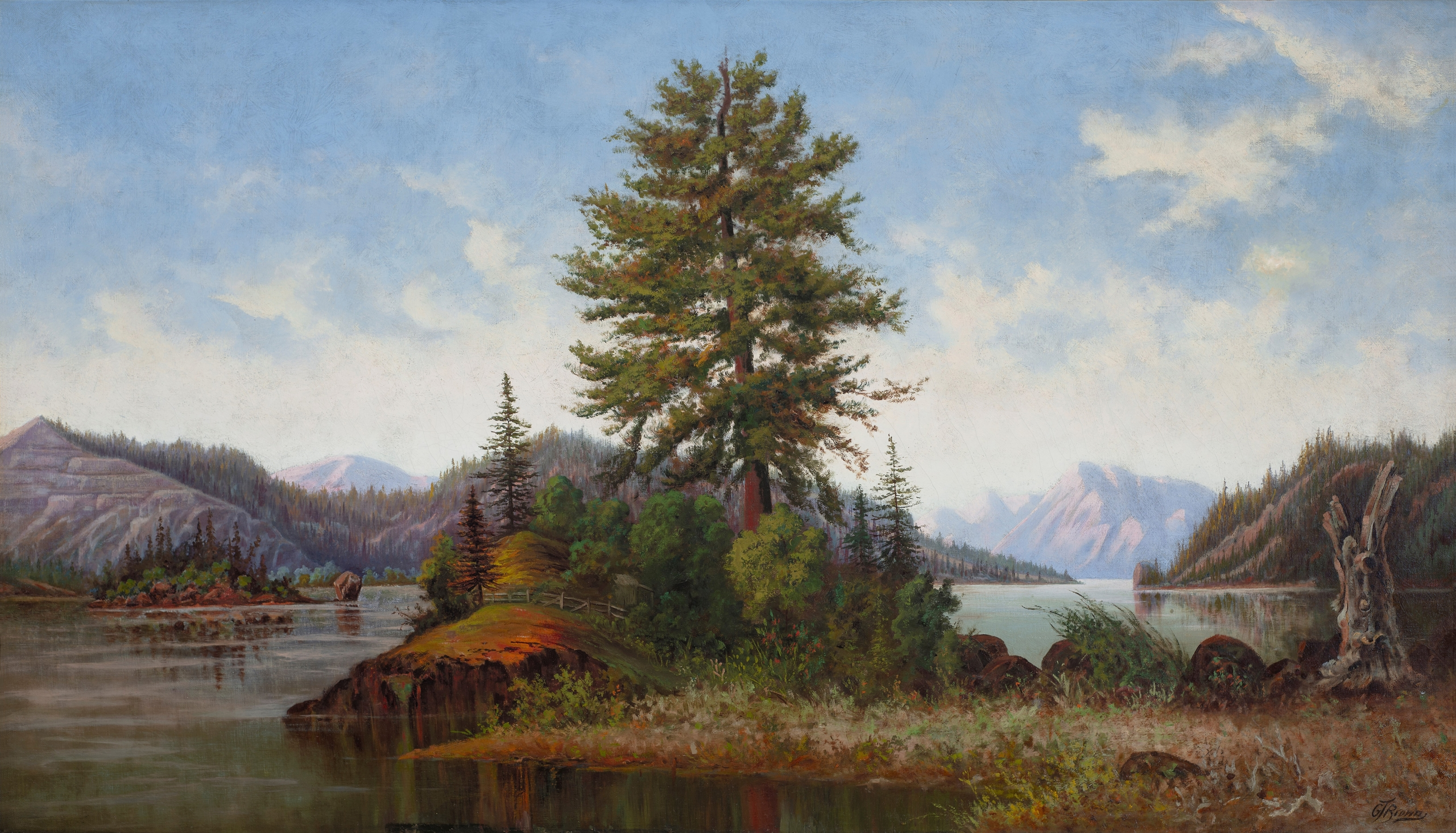 """Recent Acquisitions - Grafton Tyler Brown """"Untitled (Columbia River Scene)"""" 1"""