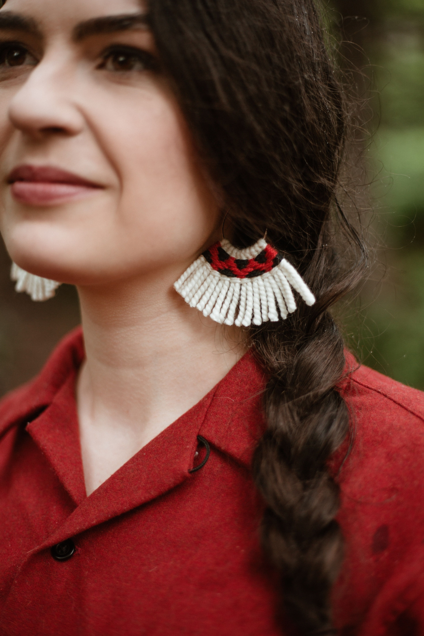 Color photo of jewelry work by Tlingit artist Lily Hope