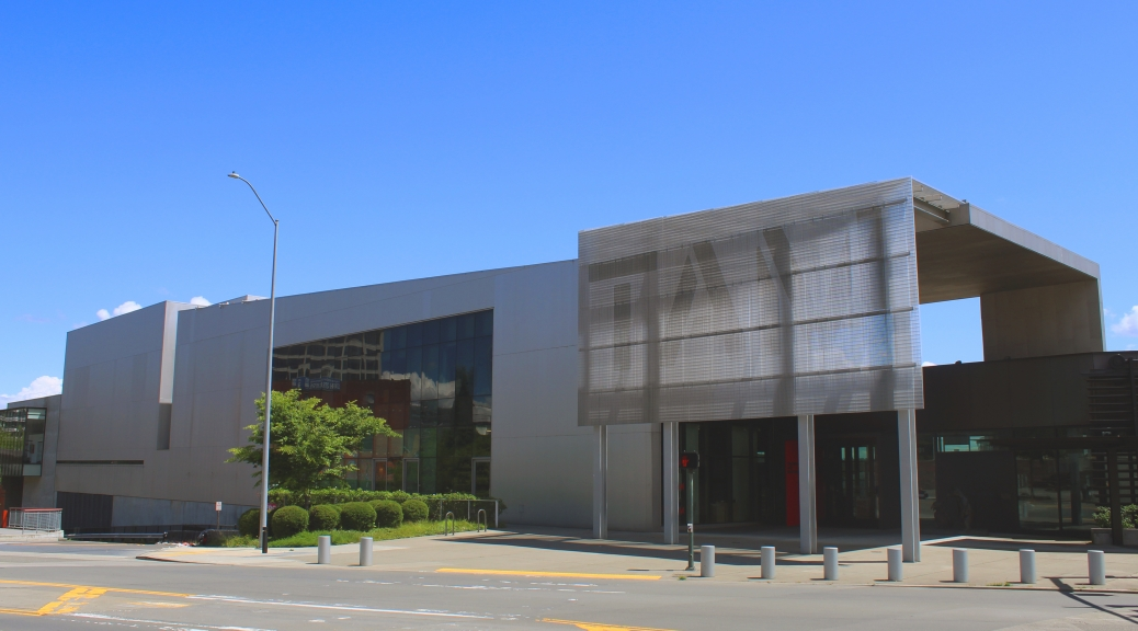 Photo of Tacoma Art Museum during the day as seen from Pacific Ave.