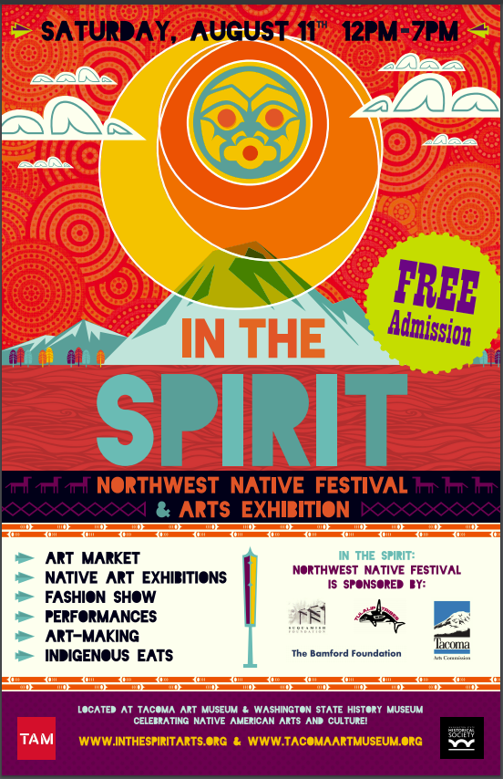 Color poster for the 2009 In the Spirit Festival designed by Jeffrey Veregge