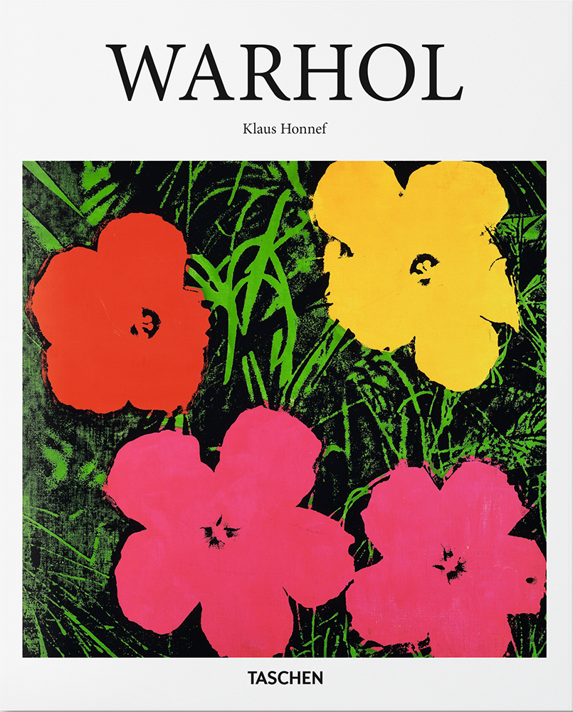 """Cover of the Taschen Basic Art series book, """"Warhol."""""""