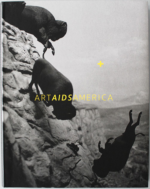 """Cover of the exhibition catalogue """"Art AIDS America."""""""