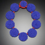 """Color photo of """"Blue Dot Necklace"""" by artist David Chatt"""