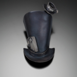"""Color photo of """"Mad Hatter"""" piece by artist Laurie Hall"""